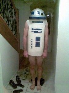 KCST afternoon personality and Music Director George Henry has been anticipating the latest entry into the Star Wars franchise. Here he tries out his home made R2D2 costume. Henry has been wearing it to work at Coast Radio every day for the past month in anticipation of the December 17th opening. (Random photo stolen from the internet)