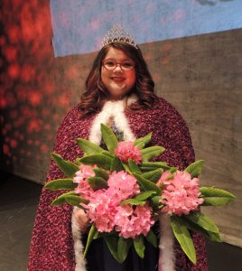 Siuslaw High School Junior Hannah Anderson was crowned Queen Rhododendra at the Rhody Showcase May 11th. (Chantelle Meyer/Siuslaw News photo)