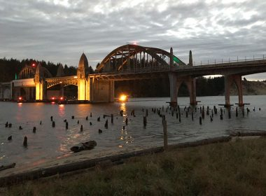 Siuslaw River Bridge at Dusk