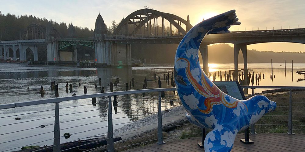 Siuslaw Bridge and Sealion