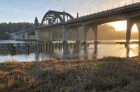 Siuslaw River Bridge at Sunset